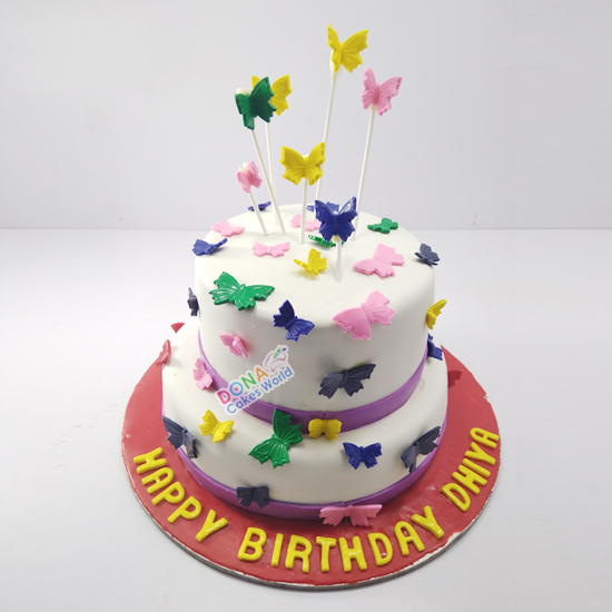 Birthday Fondant Tier Cake