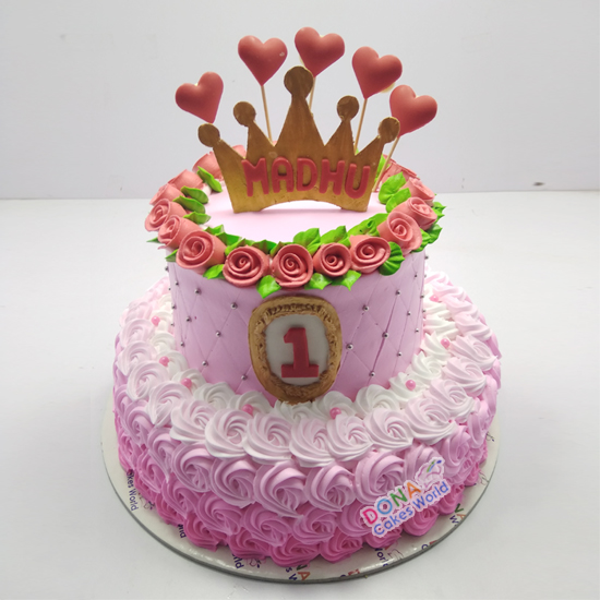 Princess Crown Tier Cake