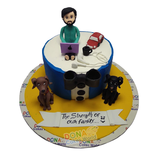 Best Dad Father Day Fondant Cake