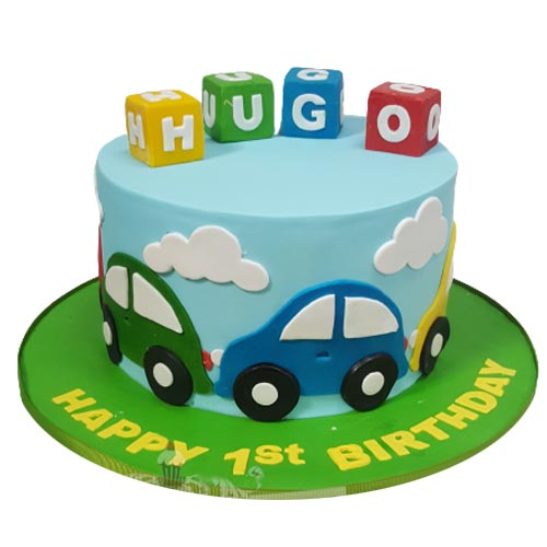 Little Car Theme cake
