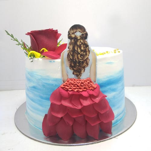 Princess Cake with Petals
