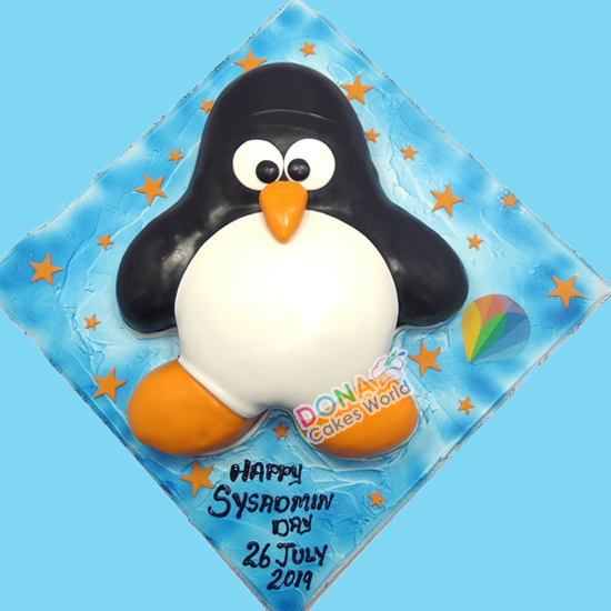 Penguin Theme Cake