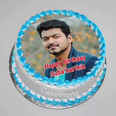 Vanilla Photo Cake Delivery Chennai Order Online