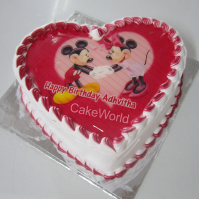 Strawberry Photo Cake Delivery Chennai Order Online