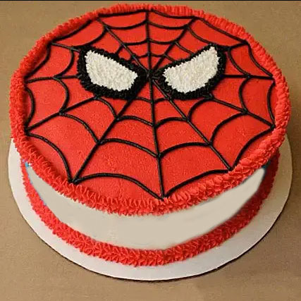 Spider Man Mask Cake