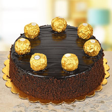 Choco Delight with Ferrero Rocher Cake