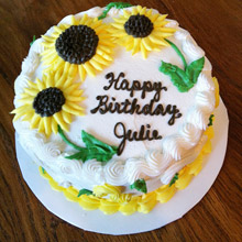 Fresh Cream Sunflower Cake